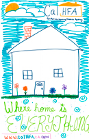 Scanned image of the winning poster, created by Katie Lopez-Johnson, Age 9.