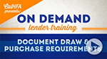 Document Draw & Purchase Requirements Video Thumbnail