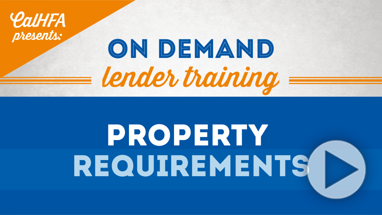 CalHFA Property Requirements Thumbnail
