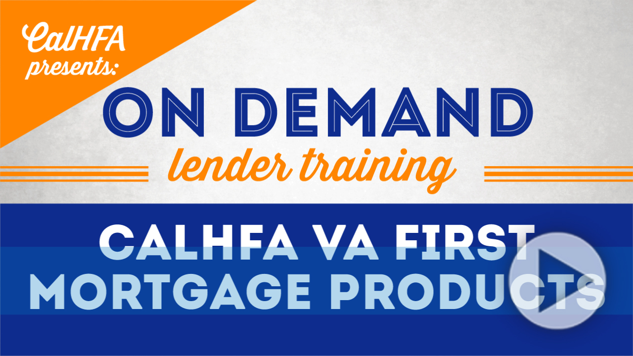 On Demand Lender Training | CalHFA